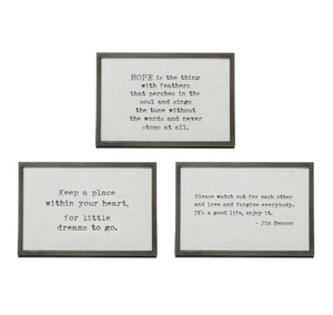 "6""x4"" Metal Frame w/Saying"