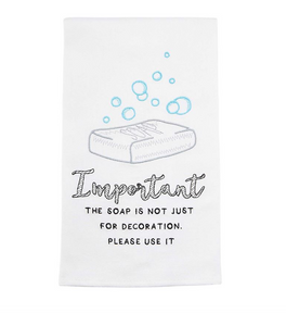 Soap Embroidered Towel