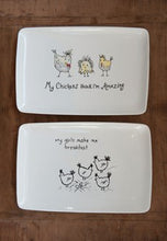 Load image into Gallery viewer, Stoneware Platter w/ Chickens