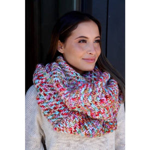 Colorful Loom Woven Infinity Scarf