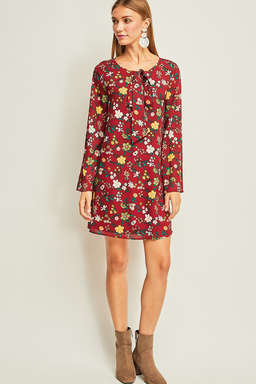 Floral two-way Shift Dress