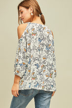Load image into Gallery viewer, Butterfly open-shoulder Blouse