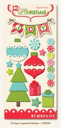 My Minds Eye 12 Days of Christmas Layered Stickers