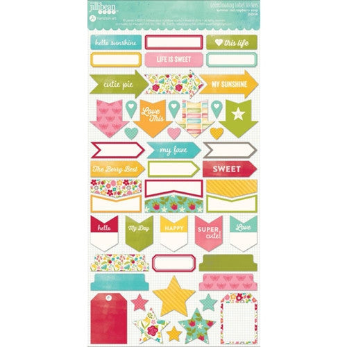 Jillibean Soup Summer Red Raspberry Label Stickers