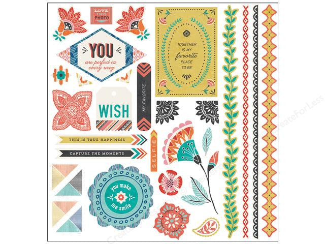 Basic Grey Spice Market Elements Stickers