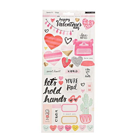 Crate Paper Heart Day Stickers
