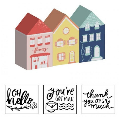 Dear Lizzy Lovely Day House Stamps