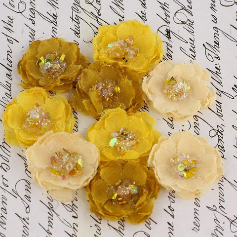 Prima Tasha Gold Flowers