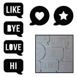 Maya Road Chipboard Say What Speech Bubbles