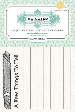 Carta Bella So Noted Journaling Cards