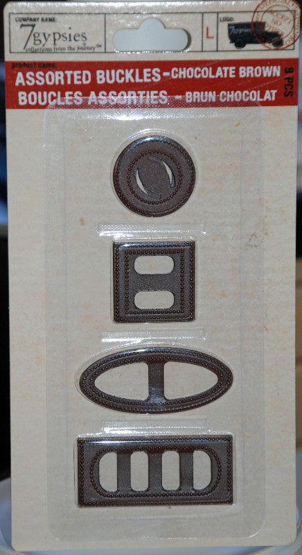7 Gypsies Assorted Buckles - Chocolate Brown
