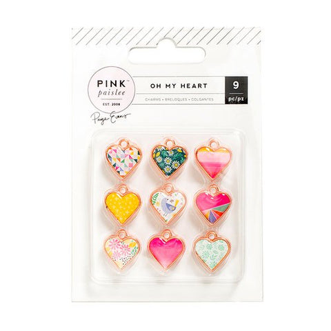 Pink Paislee Oh My Heart Charms