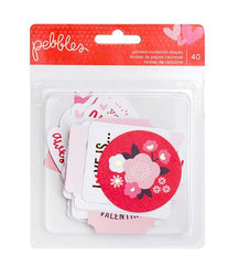 Pebbles My Funny Valentine Cardstock Shapes
