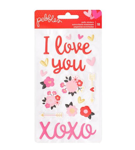 Pebbles My Funny Valentine Puffy Stickers