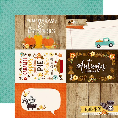Echo Park A Perfect Autumn 4x6 Journaling Cards Paper