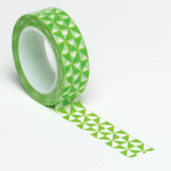 Queen and Co. Trendy Tape Green Pinwheels