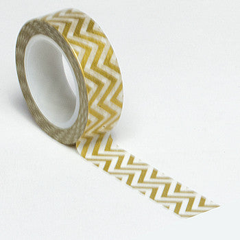 Queen and Co. Trendy Tape Gold Chevron