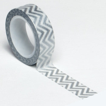Queen and Co. Trendy Tape Silver Chevron