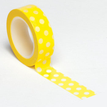 Queen and Co. Trendy Tape Yellow Polkadots