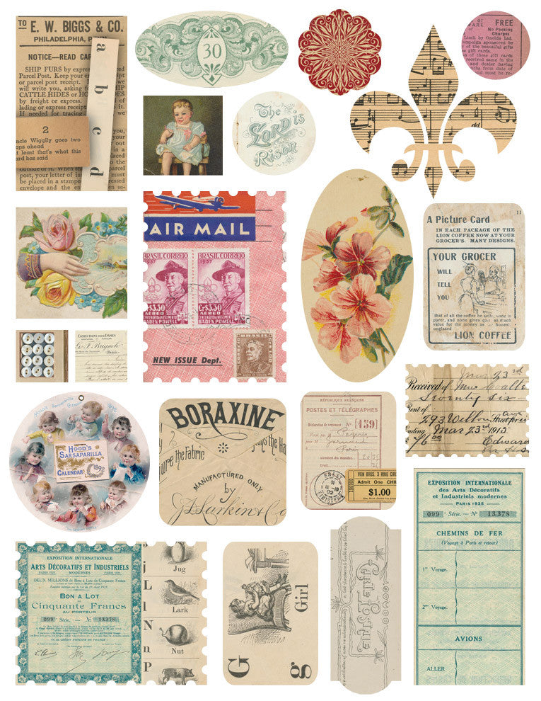 Melissa Frances Airmail Epherma Stickers