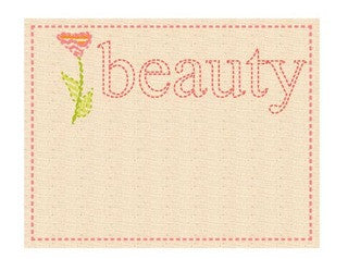 Prima Canvas Tags - Beauty