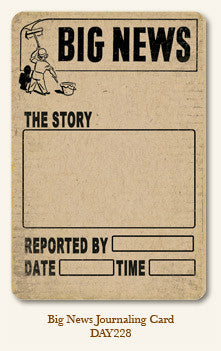 MME Life Stories Journaling Card - Big News