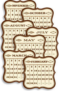 Jenni Bowlin Brown General 3x3 Calendar Cards
