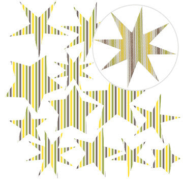 Jillibean Soup Canvas Stars - Yellow Stripes