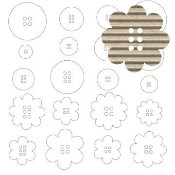 Jillibean Soup Corrugated Shapes - Buttons