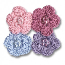 Maya Road Crochet Shimmer Blossoms
