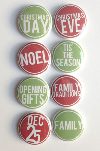 A Flair For Buttons Dec. Red and Green