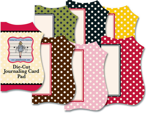 Jenni Bowlin Die-Cut Journaling Card Pad Polka Dots