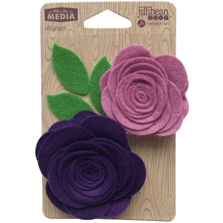 Jillibean Soup Pocket of Purple Felt Flowers
