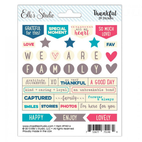 Elle's Studio Thankful Stickers