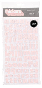 American Crafts Foam Thickers -Giggles Pink