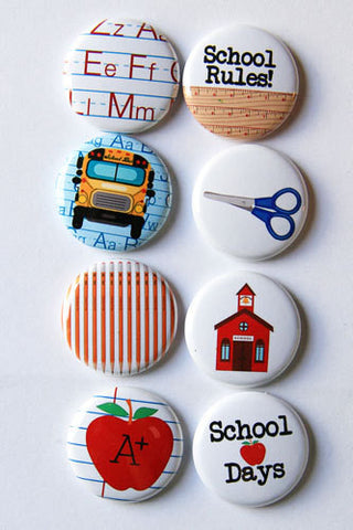 A flair for buttons school days
