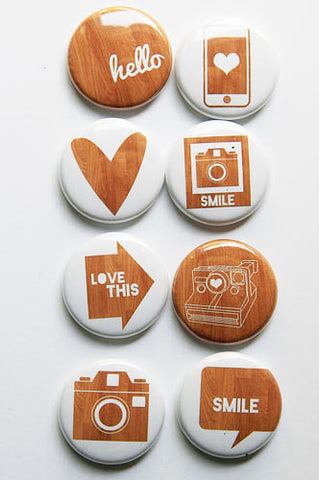 A Flair for Buttons Woodgrain 2