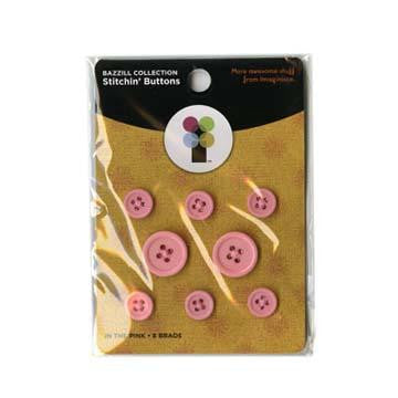 Imaginisce Stitchin' Buttons - In The Pink