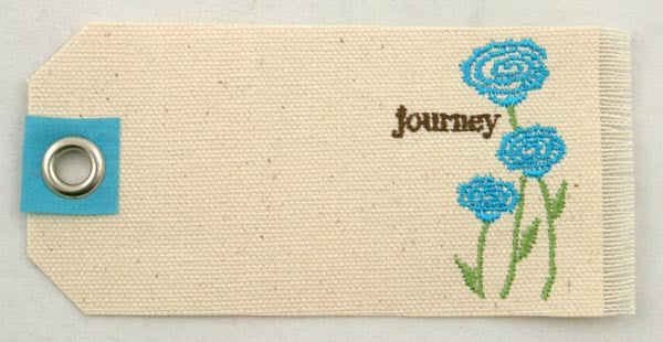 Prima Embroidered Canvas Tags - Journey