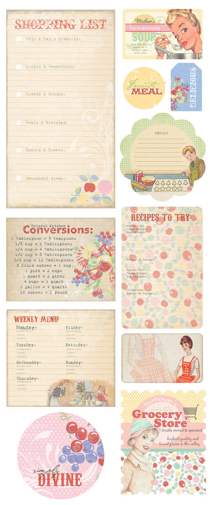 Melissa Frances Kitschy Kitchen Chipboard