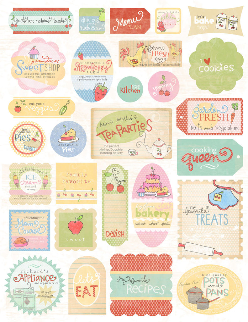Melissa Frances Kitschy Kitchen Cardstock Stickers