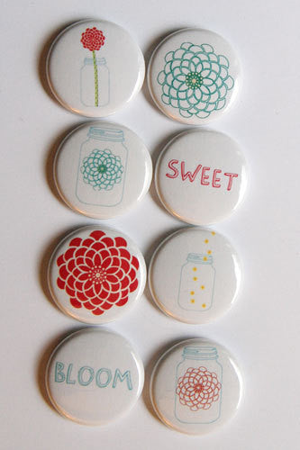 A Flair for Buttons - Mason Jars