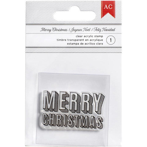 American Crafts Merry Christmas Stamp