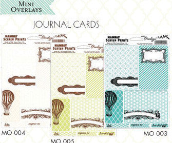 Hambly Mini Journaling Cards - White and Brown