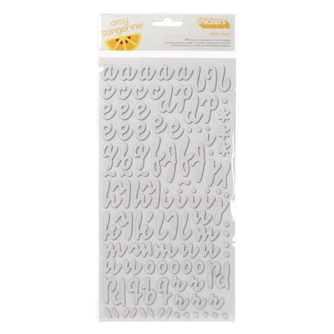 American Crafts Chipboard Thickers - Muse Whitewash