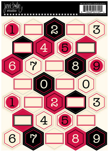 Jenni Bowlin Quilted Stickers - Numbers