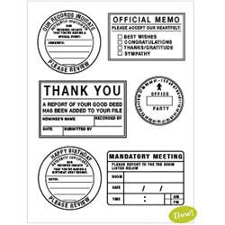 Collage Press Clear Stamp Set - Office Party