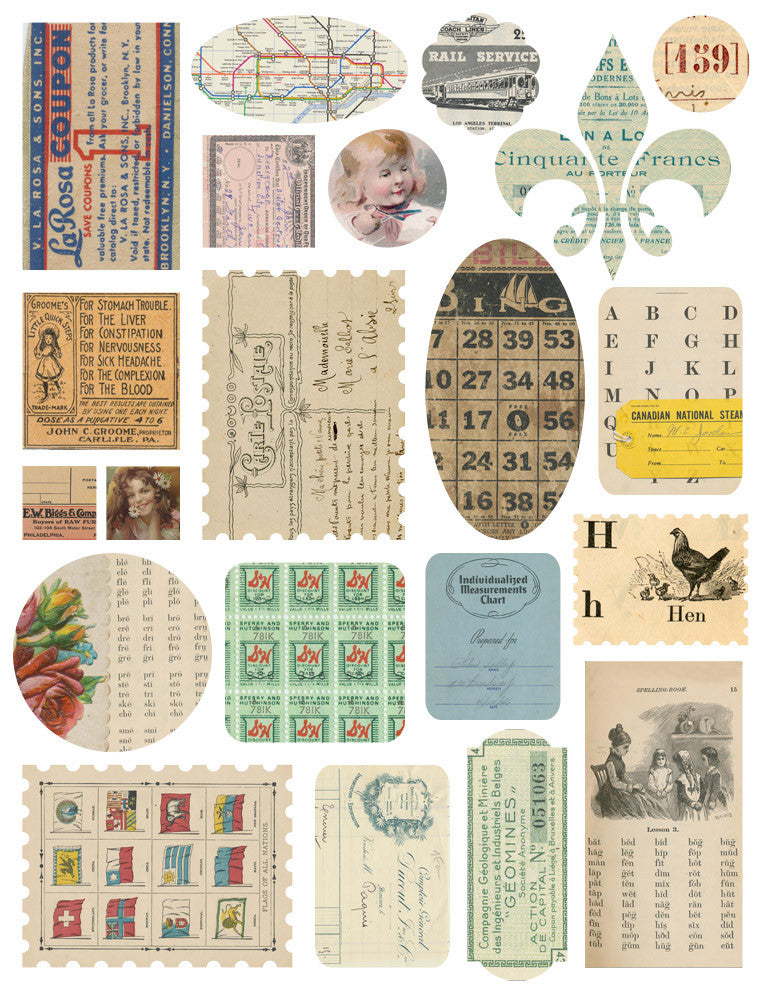 Melissa Frances Paper Works Ephemera Stickers