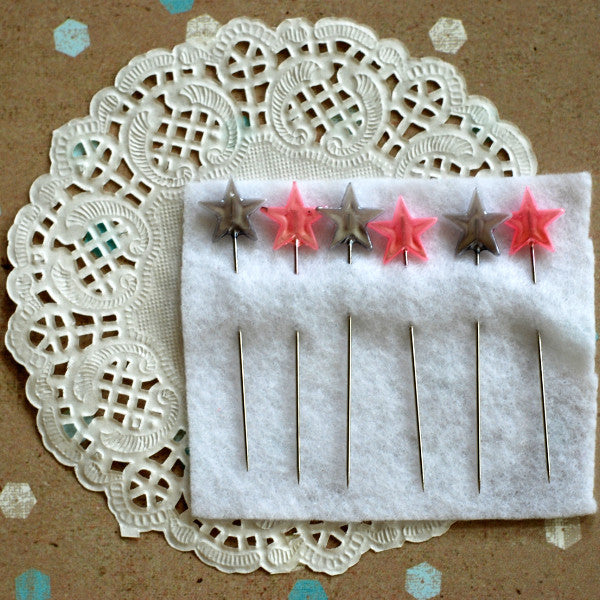 Maya Road Pink Gray Star Pins
