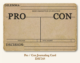 MME Life Stories Journaling Card - Pro Con